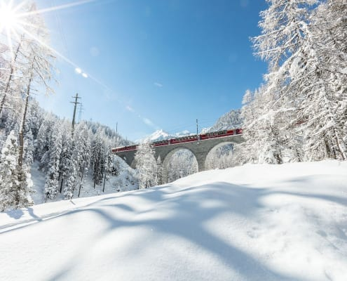 Bernina Express Winter