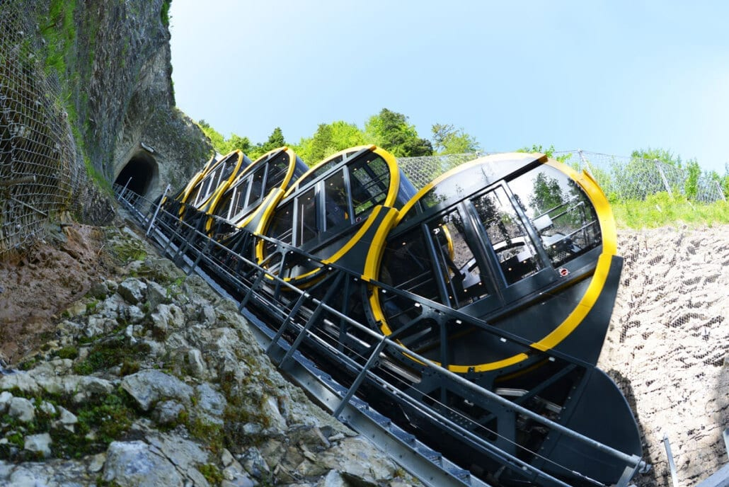 The World S Steepest Funicular Has Opened At Stoos