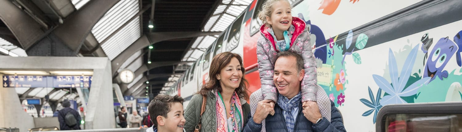 Family Coaches on Swiss Trains