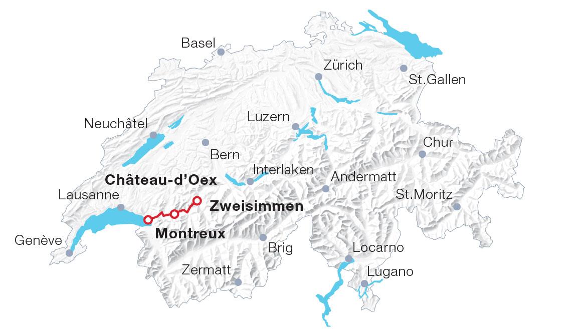 Karte Käsezug