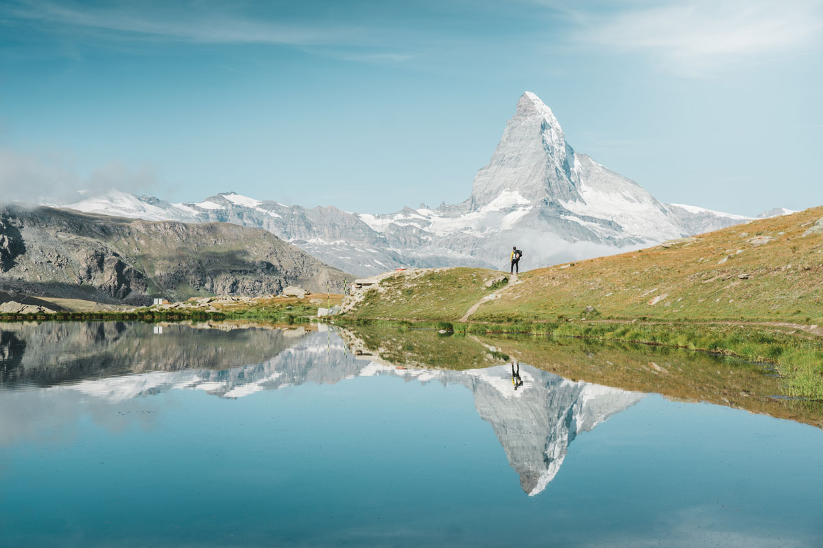 Lake Stellisee on Mount Blauherd, Zermatt