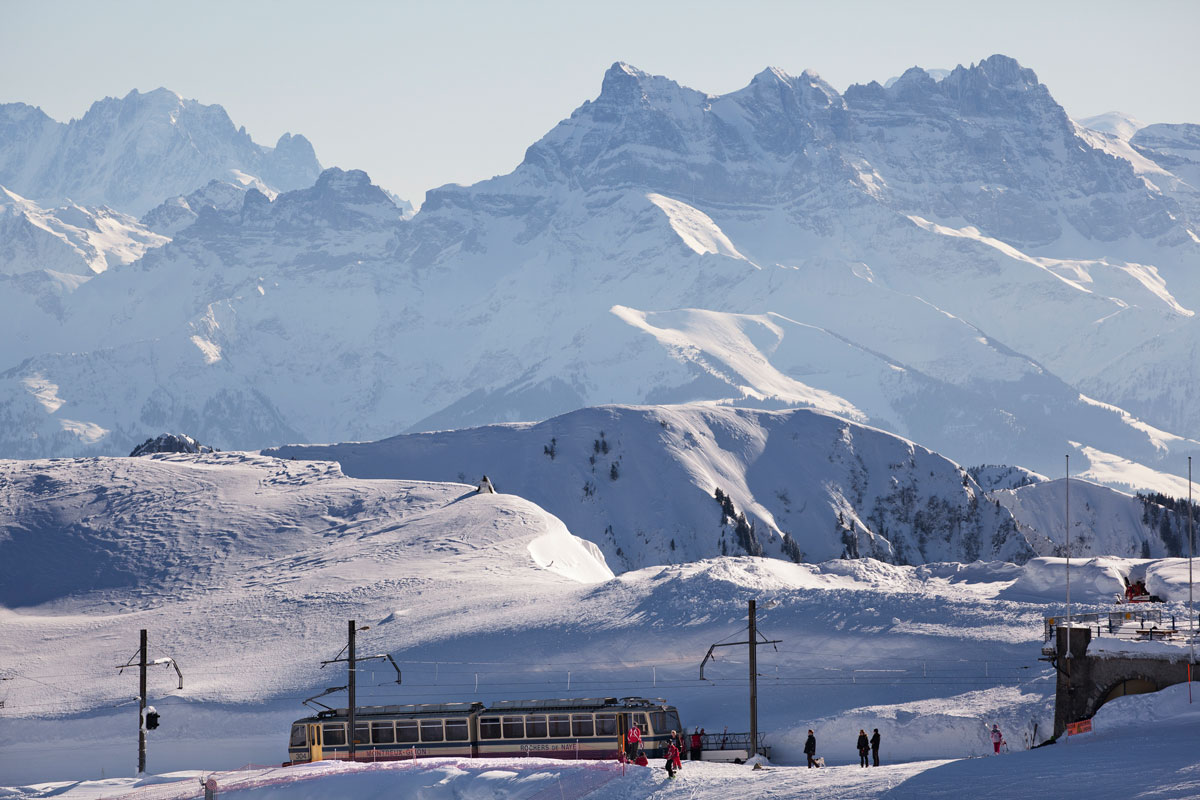 Rochers-de-Naye in winter