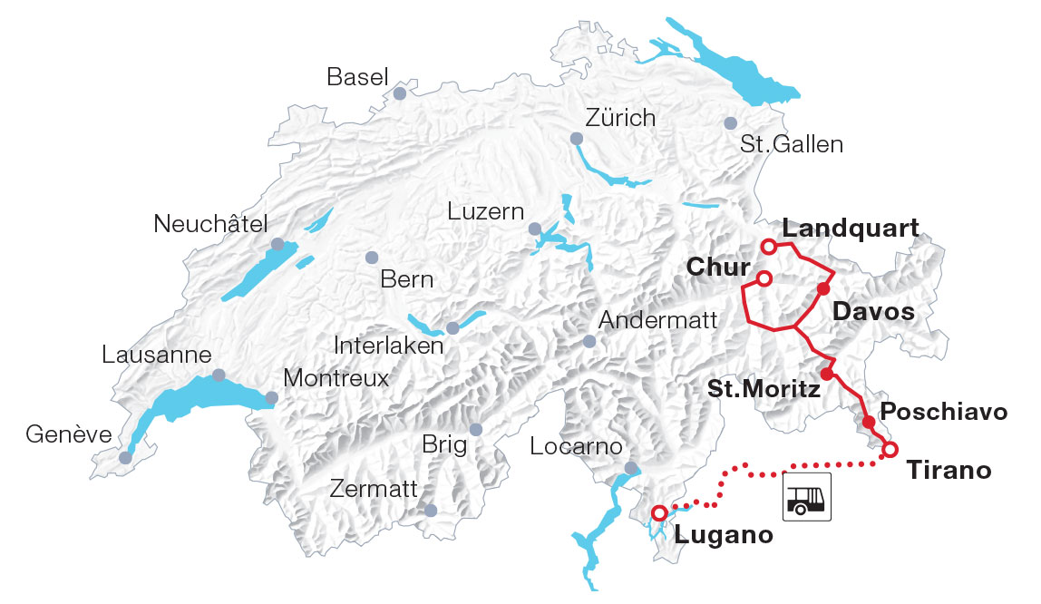 Map Bernina Express