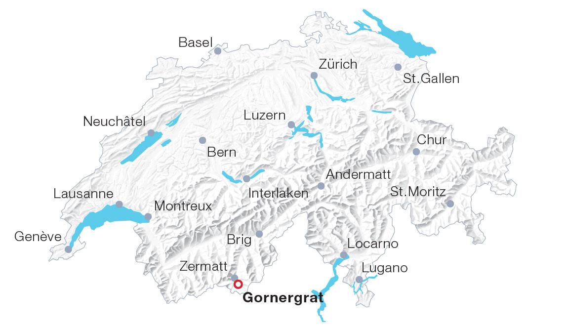 Karte Gornergrat