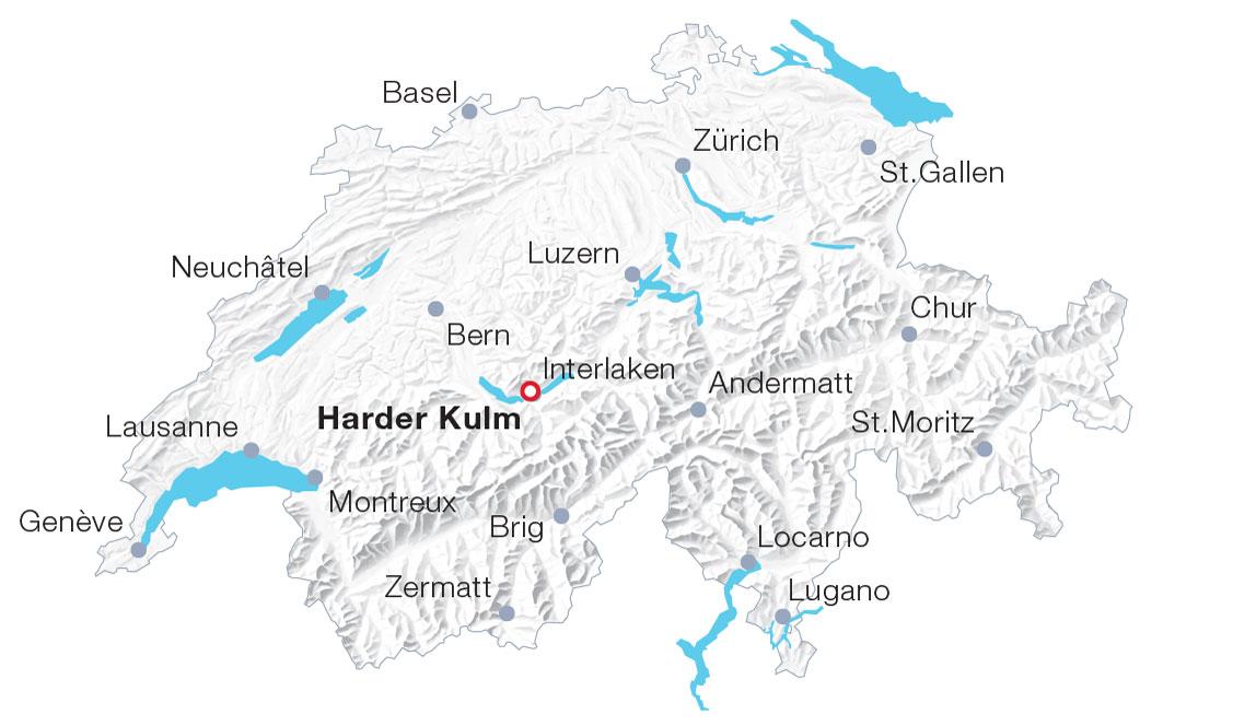 Karte Harder Kulm