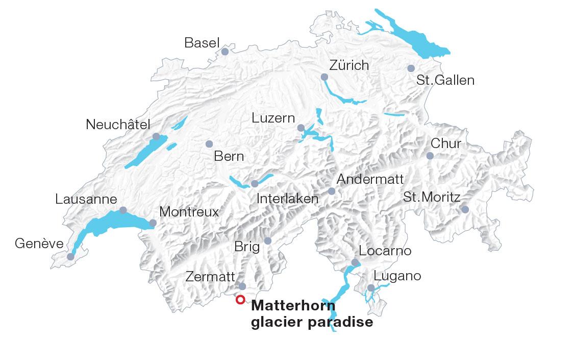 Karte Matterhorn glacier paradise
