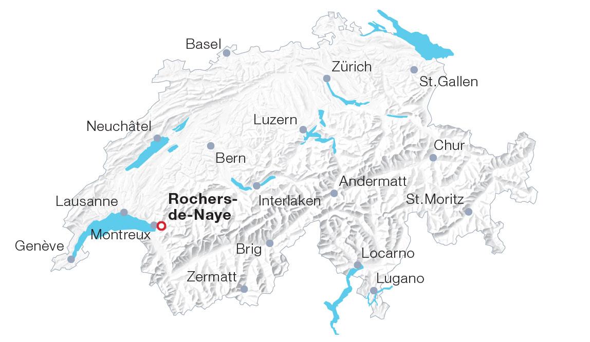 Karte Rochers-de-Naye