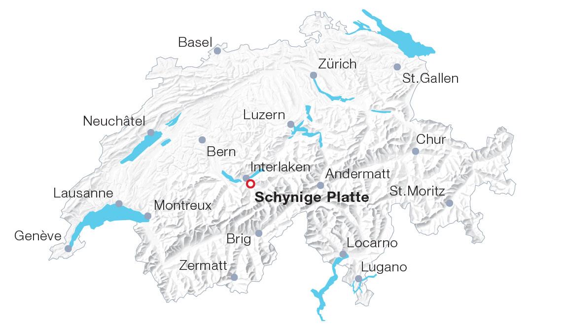 Karte Schynige Platte
