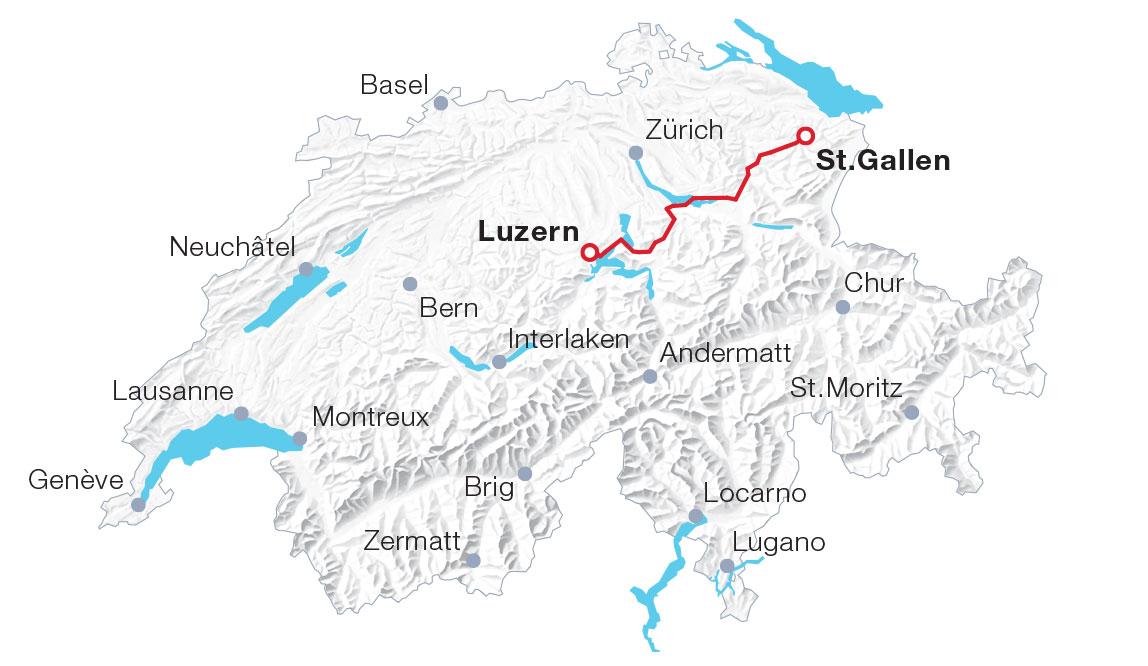 Karte Voralpen-Express