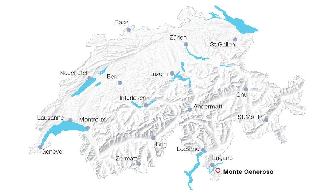 Karte Monte Generoso