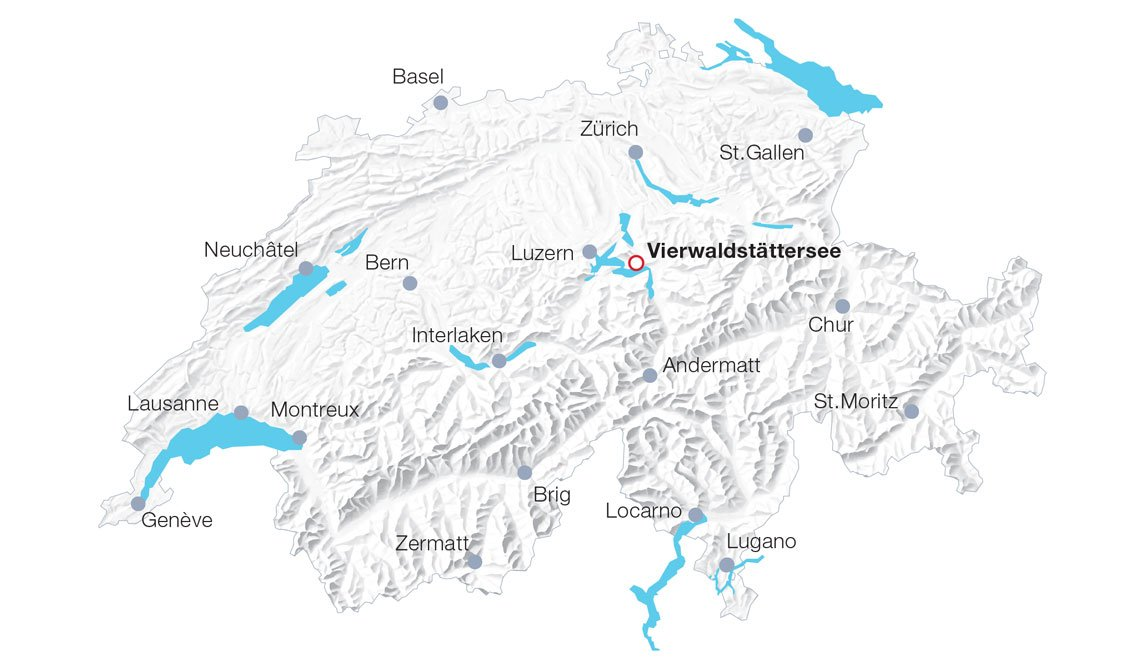 Karte Schifffahrt auf dem Vierwaldstättersee