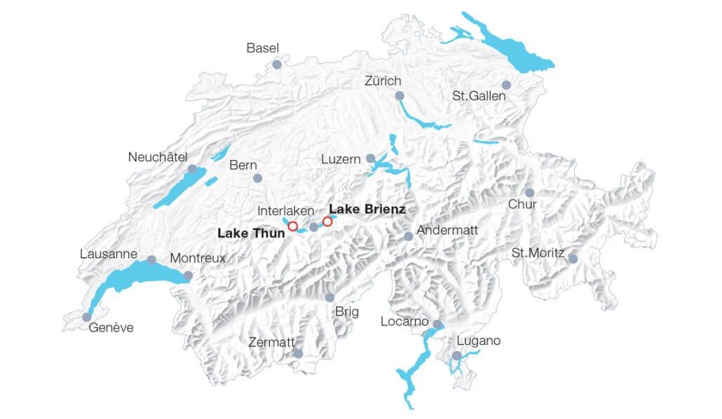 Map BLS boat cruises