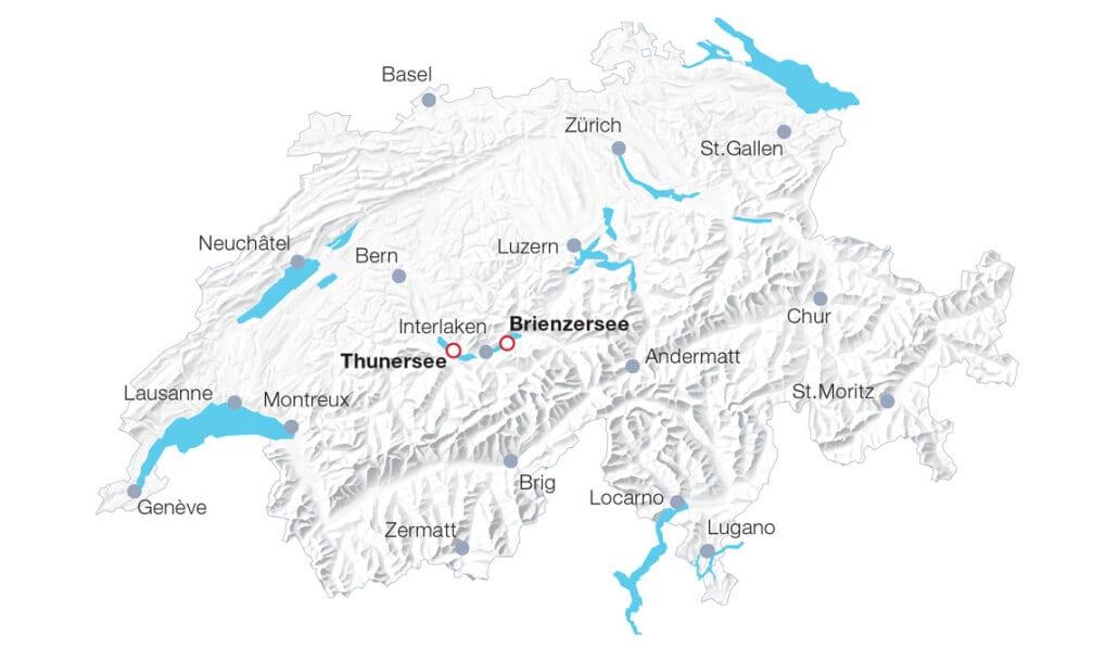 Karte BLS Schifffahrt