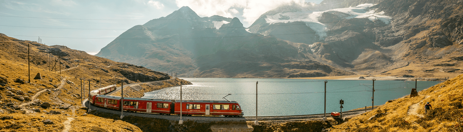 Rhaetian Railways at Lago Bianco