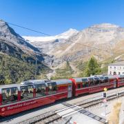 Bernina Express auf der Alp Grüm