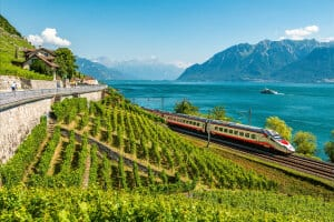 Eurocity beim Lavaux (Genfersee)