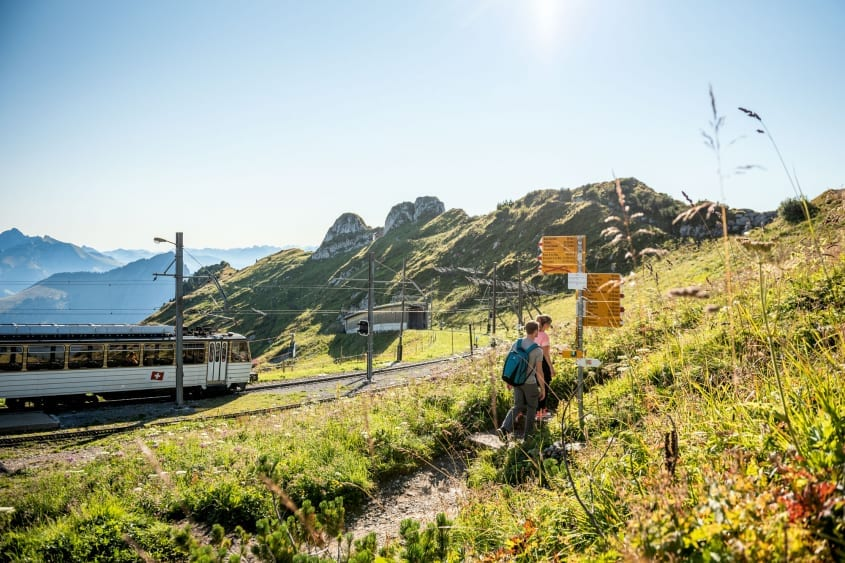 Mit Bahn, Bus und Schiff zum Wandererlebnis