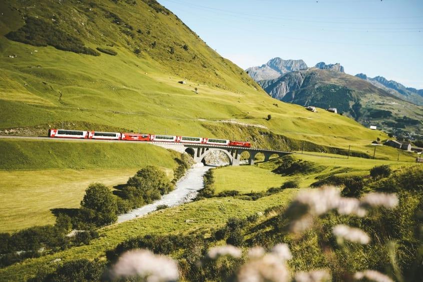 Richleren Viaduct between Realp and Hospental (Uri)