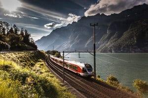 SOB train at Lake Walensee