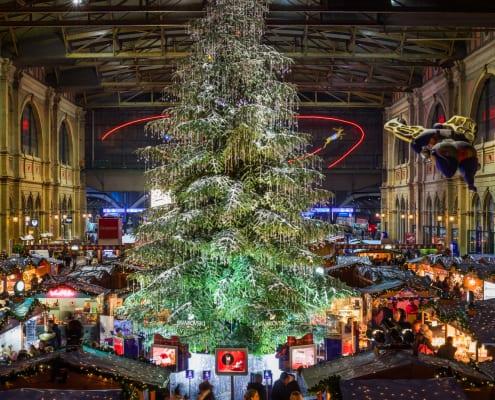 Christmas market at Zurich main station