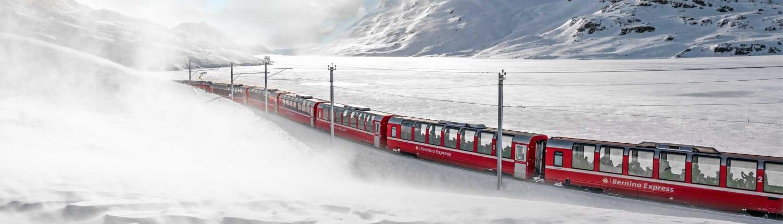 Grand Train Tour of Switzerland in winter