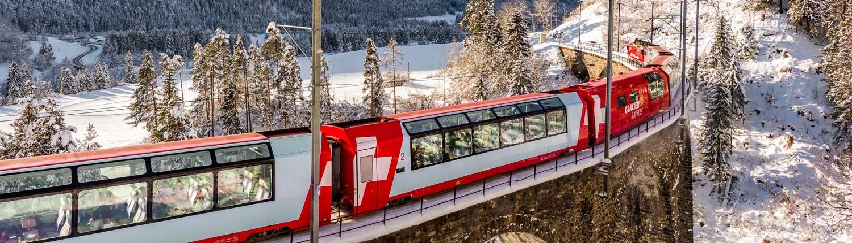 Glacier Express in winter