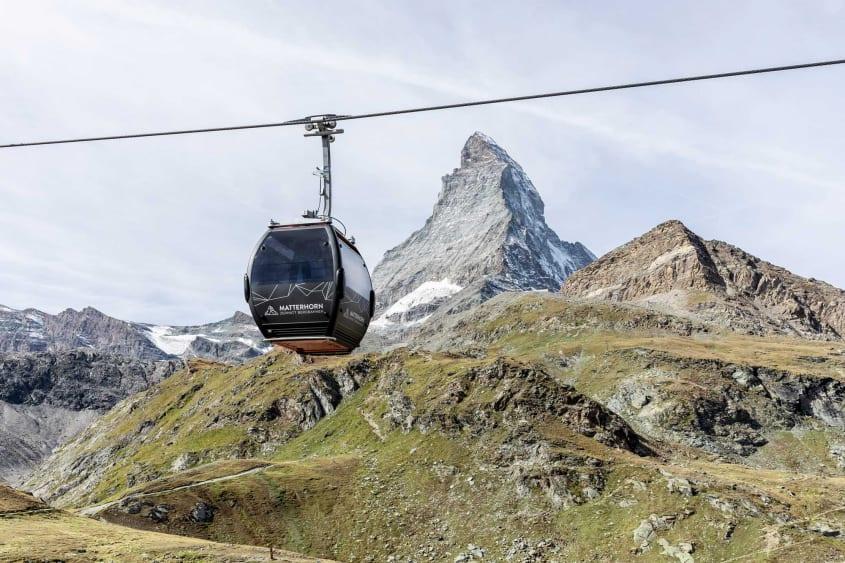 Matterhorn glacier paradise in summer